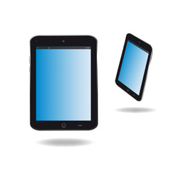 Tablet front and side view illustration