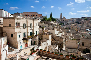 Matera, view of the old town - Italy