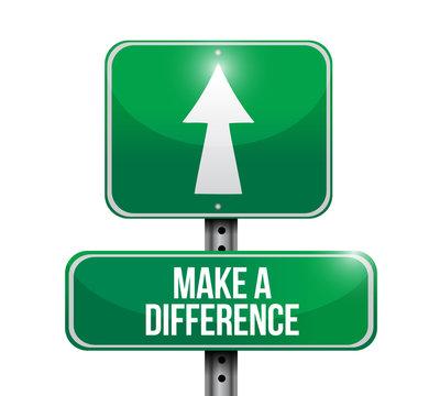make a difference sign illustration design