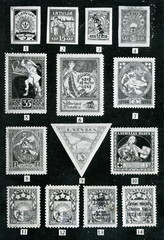 Latvian stamps ca. 1930