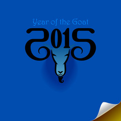 The year of goat (Blue Background)