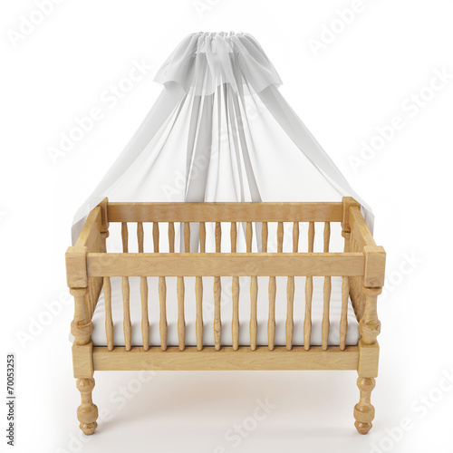 wooden baby crib with canopy  sc 1 st  Fotolia.com & wooden baby crib with canopy