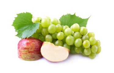 Ripe grapes and apple Fototapete