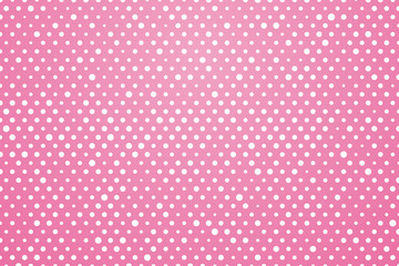 pink background with white polka dots