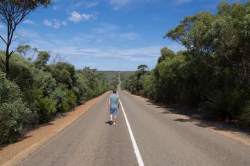 [Australien - South Australia] Kangaroo Island Reisender Straße