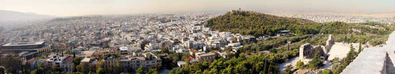 Panorama of Athens in Greece