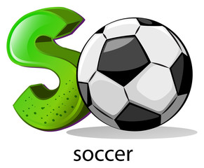 A letter S for soccer