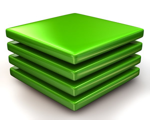 Green layers Icon