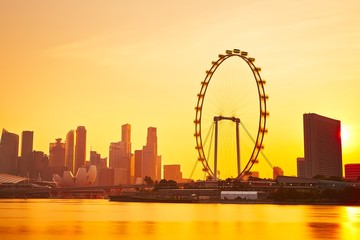 Foto op Canvas Singapore Sunset in Singapore