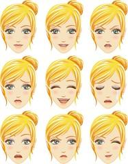 Facial expression of woman (Caucasian Descent)