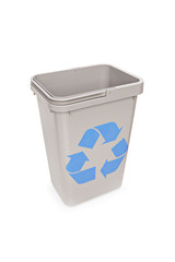 Studio shot of an empty recycle bin