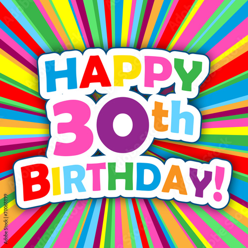 HAPPY 30th BIRTHDAY Chalkboard Card Invitation Stock Photo And Royalty Free Images On Fotolia