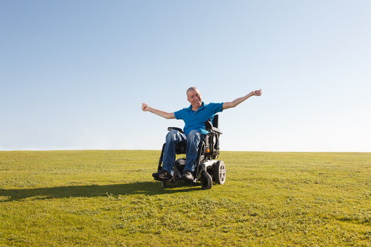 Freedom of disabled man.