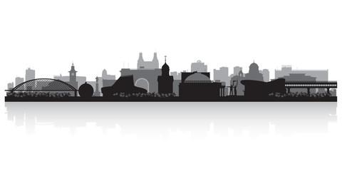 Novosibirsk Russia city skyline vector silhouette