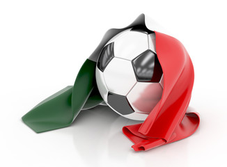 Football with Italian Flag. 3d illustration