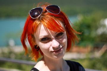 Red Hair Girl in Abdau Durso, Novorossijsk