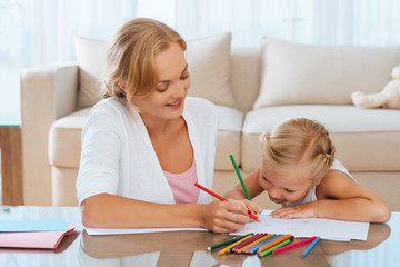 Drawing with mother
