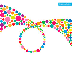 Circle abstract colorful background. Vector illustration