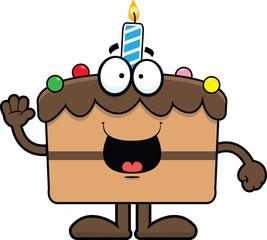 Cartoon Birthday Cake Happy