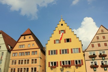 Häuser in Rothenburg