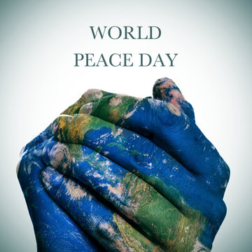 world peace day (Earth map furnished by NASA)