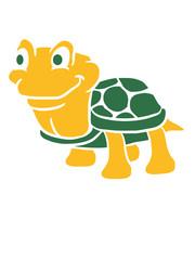 Lustige kleine comic Schildkröte
