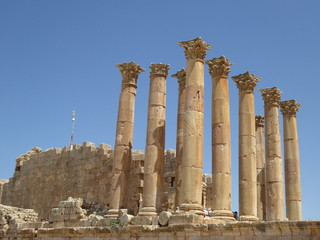 Columnas del Templo de Artemis, Jerash, Jordania
