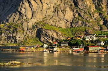 Wall Mural - Norwegia , Reine, krajobraz wiejski