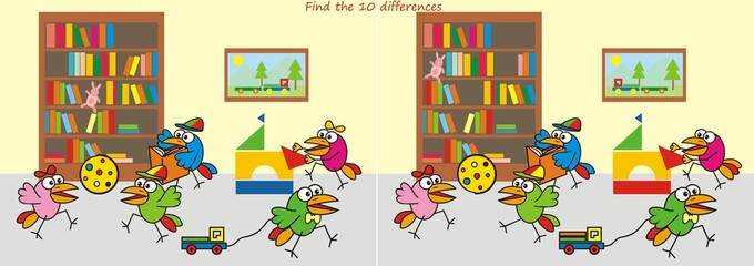 nursery,find ten differences