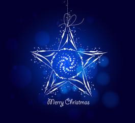 blue star christmas background
