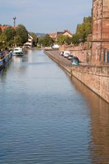 Château des Rohan à Saverne et canal de la Marne au Rhin