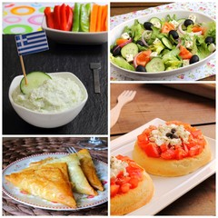 Greek cuisine collage