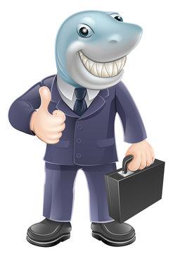 Business man shark