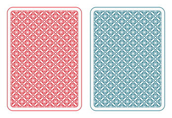Playing cards back alfa