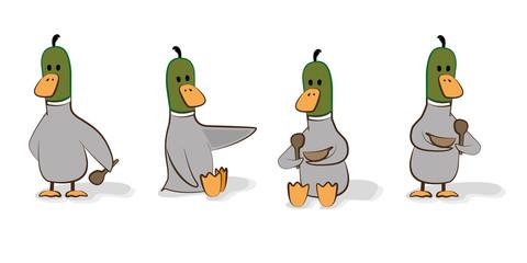 cartoon ducks