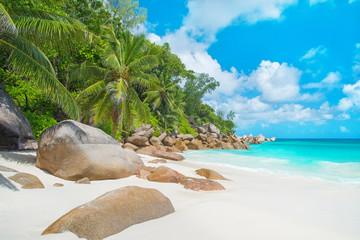 Tropical beach Anse Georgette at island Praslin, Seychelles