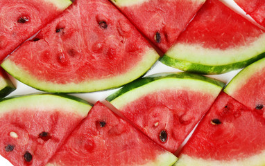 Fresh slices of watermelon, close up