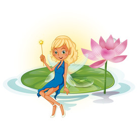 Fairy and lotus