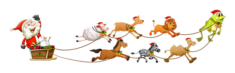 Santa and animals