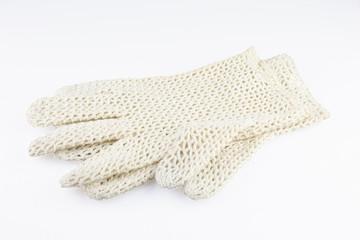 Elegant women's crocheted gloves