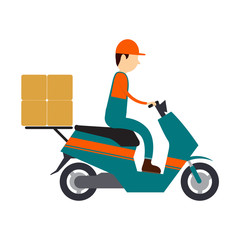 vector character logistic and shipping business