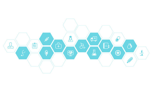 Medical and health  icons  vector background