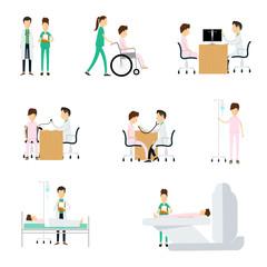 Hospital medical character  on white background