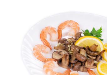 Close up of shrimp salad.