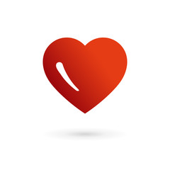 Heart symbol logo icon design template elements