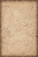 Old Coarse Beige Recycle Paper Mottled Vignette Grunge Texture
