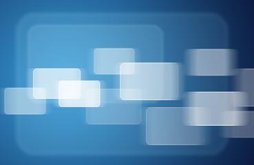 Transparent rectangles on blue background