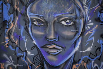 Graffiti visage de femme