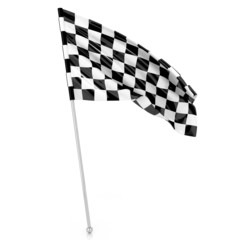 Racing Flag, 3d illustration