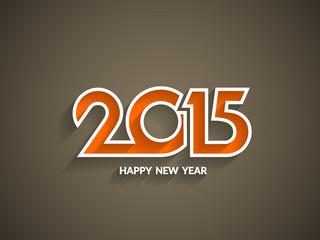 Elegant happy new year 2015 text design